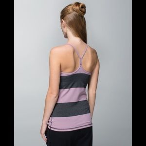 Lululemon Size 6 Tank Top Shirt with Bra Power Y